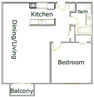 Four Seasons Apartments 1 bedroom